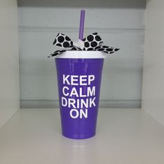 Keep Calm Drink On Party Tumbler. Tumbler. by ElleQDesigns on Etsy