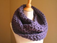 """Soho Crocheted Bulky Cowl (No lie: this cowl is a perfect """"First Project"""" if you've always wanted to learn how to crochet.)  Free Pattern 2014"""