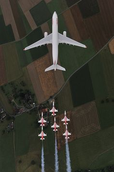 Airbus A330-300 and Patrouille Suisse