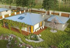 #budowadomu #projektgotowy #projekt #budowa #taniwbudowie #tanidom #projekty Home Fashion, Bungalow, Mansions, House Styles, Amazing, Outdoor Decor, Home Decor, Luxury Houses, Interior Design
