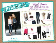 Meet Emma!   4 ways to wear Hydraulic Super Skinny Jean.
