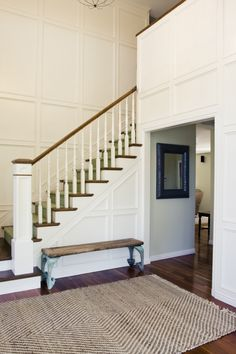 Love Molding Up The Stairs Requires No Art Stair Walls Wainscoting Stairs