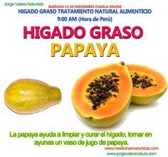 higado graso | La papaya ayuda a limpiar y curar elhígado, tomar en ayunas un vaso ...