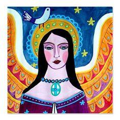 Mexican Folk Art Angel Shower Curtains  Virgin by HeatherGallerArt, $90.00