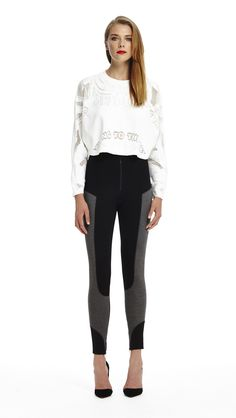 Gimme Shelter Jumper - White & Straight Shooter Pants