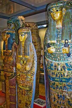 In Ancient Egypt, a sarcophagus formed the external layer of protection for a royal mummy | Crystalinks: Ancient Egyptian Art, Painting, Sculpture