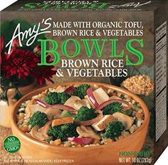 Brown Rice & Vegetable Bowl from Amy's Vegan Frozen Meals, Carbohydrates Food List, Cholesterol, Vegan Food List, Vegetarian Food, Organic Brown Rice, Healthy Groceries, Healthy Dinners, Vegetable Bowl