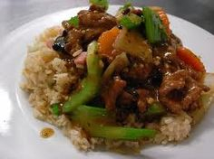 Beef Black Bean with Rice. Yummy....
