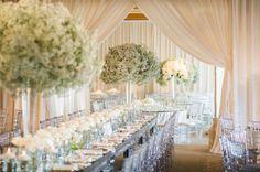 All white wedding theme. All-white decor. White Wedding Decorations, Wedding Centerpieces, Table Decorations, Wedding Styles, Wedding Photos, Wedding Bible, All White Wedding, Floral Event Design, Winter Wonderland Wedding