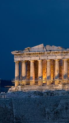 The Parthenon in Athens, Greece.I want to go see this place one day.