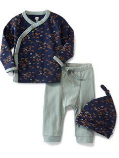 Kimono-Wrap Top, Pants & Hat Set for Baby | Old Navy
