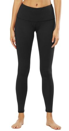 c0395207a51ec Maternity Styles - skinny maternity leggings : Alion Womens Workout Mid  Rise Yoga Leggings Stretchy Athletic