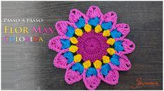 Flor de Crochê Max Colorida