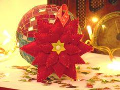 SofterrOr - Χειροποίητες Κατασκευές: ♥ Χριστουγεννιάτικα Στολίδια: Χριστουγεννιάτικο Λουλούδι! ♥
