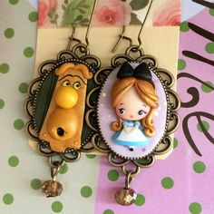 Polymer Clay Disney, Polymer Clay Figures, Polymer Clay Dolls, Polymer Clay Miniatures, Polymer Clay Charms, Polymer Clay Projects, Polymer Clay Creations, Polymer Clay Earrings, Clay Crafts