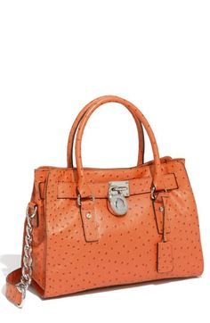 MICHAEL Michael Kors 'Hamilton' Ostrich Embossed Tote | Nordstrom - StyleSays