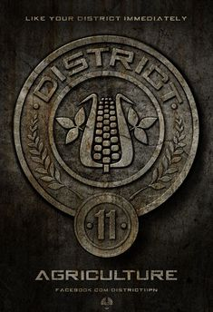 """District 11 is one of the poorer districts, right after District 12 in the nation of Panem. Their job is agriculture- orchards, fields of grain, and cotton surround the district. Almost everything they grow goes to the Capitol."" - The Hunger Games trilogy <3"
