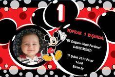 1 yaş doğum günü davetiyesi