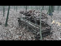 Überlebenstraining Schweiz / Unterkunft für sehr kalte Nächte ohne Feuer / Laubhütte - YouTube