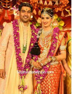 Hyderabad industrialist Prasad Nimmagadda's daughter Swathi Nimmagadda got married to Pranav. Wedding Bells, Wedding Day, Wedding Highlights, Bride Look, India Fashion, Traditional Wedding, Got Married, Her Hair, Perfect Wedding