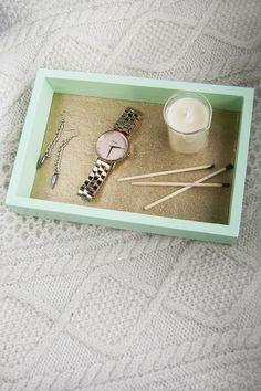 DIY Mint & Gold Mini Tray | DIY In PDX