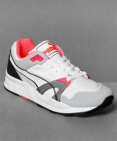Neu im Shop: Puma Trinomic XT 1 Plus in White/Fire Red Cement Grey - http://www.numelo.com/puma-trinomic-plus-p-24522183.html #puma #trinomicxt1plus #laufschuhe #sneaker #numelo