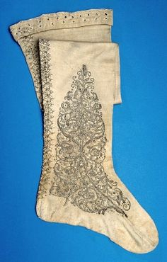 silk stockings.  NAME  Owner :Gustav II Adolf of Sweden  Manufacturer :Sebastian Lellij  DATING  about 1620  OTHER KEYWORDS  sock  COLLECTION OF THE  Royal Armoury  INVENTORY NUMBER  19833 (3378: b)