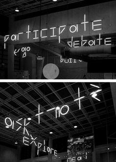 Neon at Internl Architecture Biennale Rotterdam by Armand Mevis and Linda Van Deursen with Karl Nawrot via @_Undt