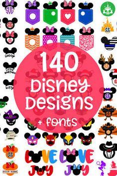 Disney Fonts, Disney Decals, Disney Shirts, Mouse Ears, Minnie Mouse, Disney Designs, Art Designs, Vinyl Crafts, Felt Crafts