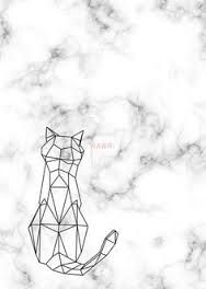 Image result for origami cat line drawing