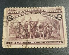 "TJS: Scott 231 ""1892 2c ""LANDING OF COLUMBUS"" CV $250 - USED LIGHT CANCEL"