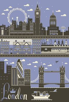 London city poster - love this design - I'll be putting one in my kitchen !