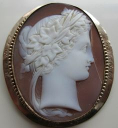 Very Fine Quality Large Victorian Signed Carved Shell Cameo Brooch Bacchante | eBay