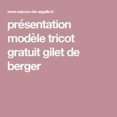présentation modèle tricot gratuit gilet de berger