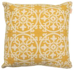"Features:  -Embroidered pillow.  -Imported.  -Material: Polyester.  Product Type: -Throw pillow.  Style: -Contemporary.  Size: -18"" Square.  Shape: -Square.  Cover Material: -Polyester/Polyester blend"