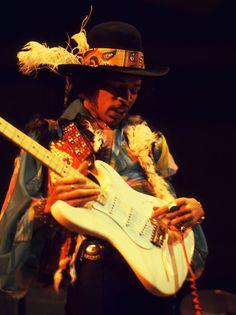 Jimi Hendrix's Macon, GA connection: Hendrix was a member of Little Richard's band. He was fired for outdressing Little Richard Jimi Hendrix Woodstock, Jimi Hendrix Experience, Stevie Ray Vaughan, Royal Albert Hall, Punk, Music Icon, George Harrison, Paul Mccartney, Rock Music