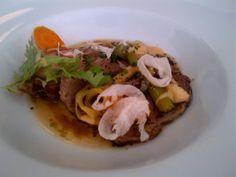 Marinaded prime boiled bio beef, young vegetables and cider vinegar @ Restaurant Gasthaus Floß