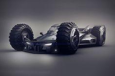 Další designová pecka z Bulharska. Designér Encho Enchev nyvrhnul tenhle hodně nabroušenej koncept batmobilu. Kola má výš, než má Batman oči... Bude tam trochu mrtvej úhel. Ale jinak je to prostě masíčko...