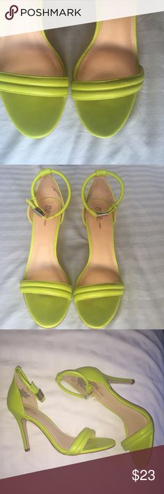 Lime Green Sandals- Prabal Gurung for Target The color of this sandal is everything. Brand is Prabal Gurung for Target. Worn once but look brand new. No scuffs on the shoe only on the sole from wear. Size 7.5, fit like an 8. Any questions please feel free to ask :) Prabal Gurung for Target Shoes Sandals