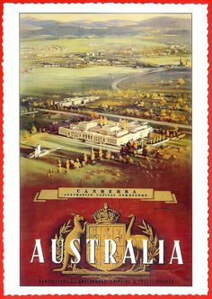 Travel Style Australia Vintage Posters 40 New Ideas Vintage Travel Posters, Vintage Postcards, Vintage Advertisements, Vintage Ads, Posters Australia, Australia Pics, Melbourne, Sydney, Australian Capital Territory