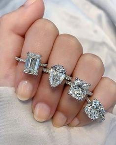 49 Utterly Gorgeous Engagement Ring Ideas ❤ engagement ring ideas pave band ring ideas1 #weddingforward #wedding #bride