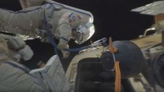 Two Russian cosmonauts were filmed launching nano-satellites while clinging to the outside of the International Space Station. International Space Station, Video Capture, Space Exploration, The Outsiders, Product Launch, Science