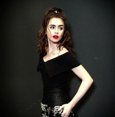 Lily Collins Chanel
