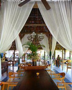 Dining room Javanese joglo style at D'Roemah Bali.
