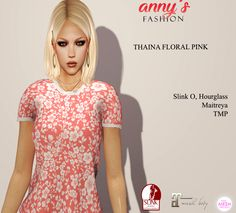 Anys Fashion Free Group Gift SL Group gift from anny's fashion for the Shopping District. Thaina simple floral top. Maitreya, Slink (both) and TMP. Free! [...]