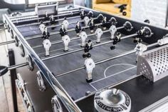 It's vintage-retro styled, but this is a baby-foot foosball table with a twist. Retro Table, Vintage Table, Retro Vintage, Best Build, Different Games, Vintage Models, Tabletop Games, Present Day, Furniture Making