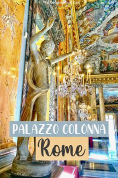 Looking for some crowd free hidden gems in Rome? This is the ultimate guide to the beautiful art-filled Palazzo Colonna in Rome Italy. It's a secret off the beaten path Baroque gem in the center of Rome. The Baroque palace is filled to the brim with art, frescos, tapestries, and statuary set amid ornate rooms, including a Hall of Mirrors. If you're looking for unusual things to do in Rome or put on your Rome itinerary, read on! What To Do In Rome | Museums in Rome | #rome #palaces #italy Rome Travel, Italy Travel, Rome Museums, Museum Guide, Rome Itinerary, Day Trips From Rome, Hall Of Mirrors, Famous Landmarks, Unusual Things