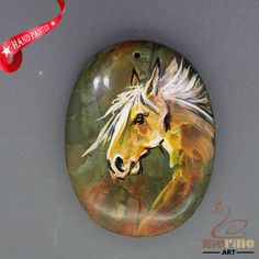 Bag Accessory Hand Painted Horse head necklace Picasso Jasper pendant  ZL806090 #ZL #Pendant