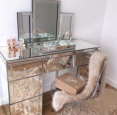 Chenebessenger 3 Mirror Vanity Mirrored Table Tables Dressing
