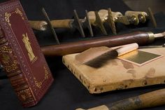 Bookbinding tools by Hopkins Rare Books, Manuscripts, & Archives, via Flickr